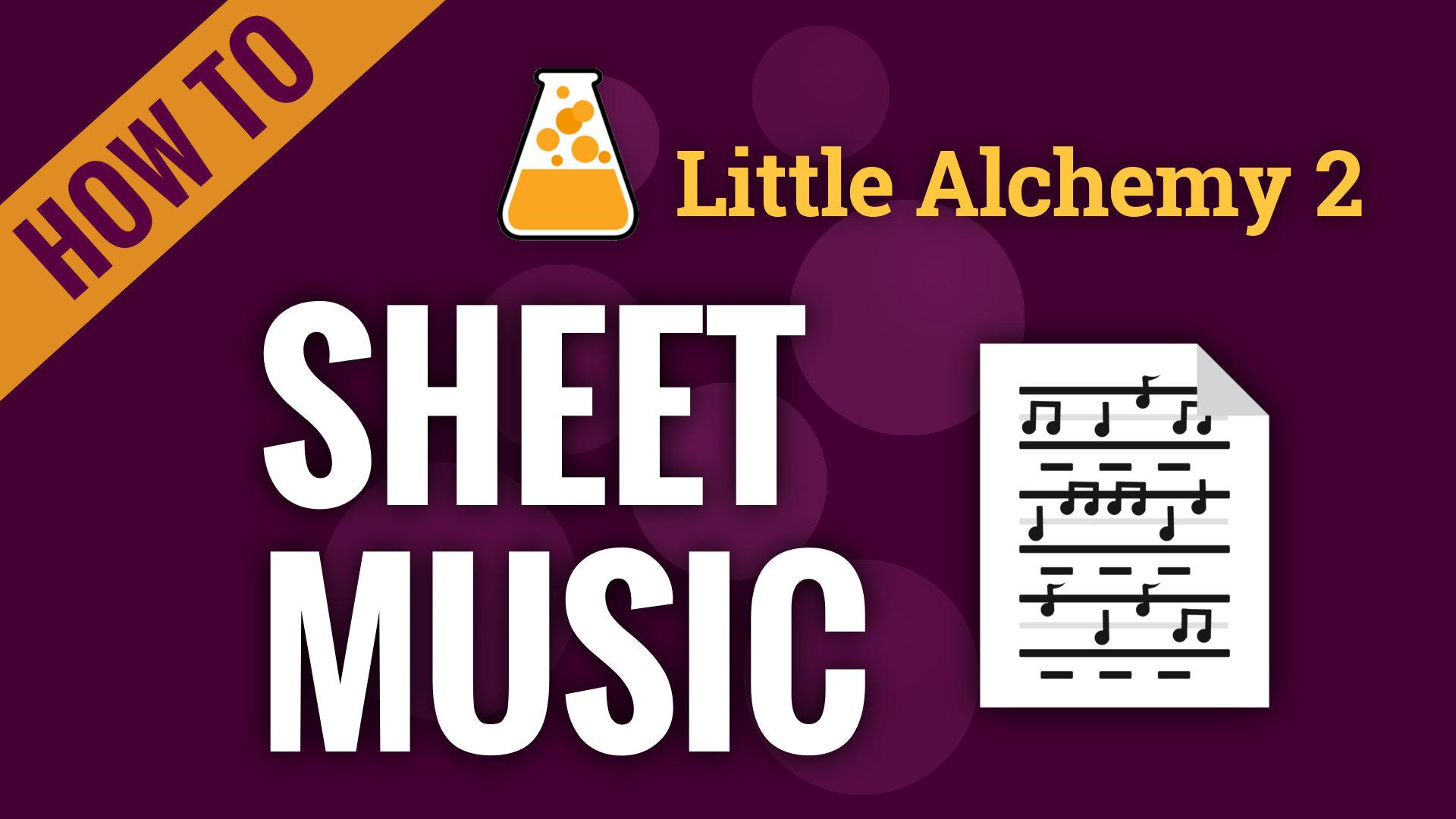 sheet music  little alchemy 2 cheats